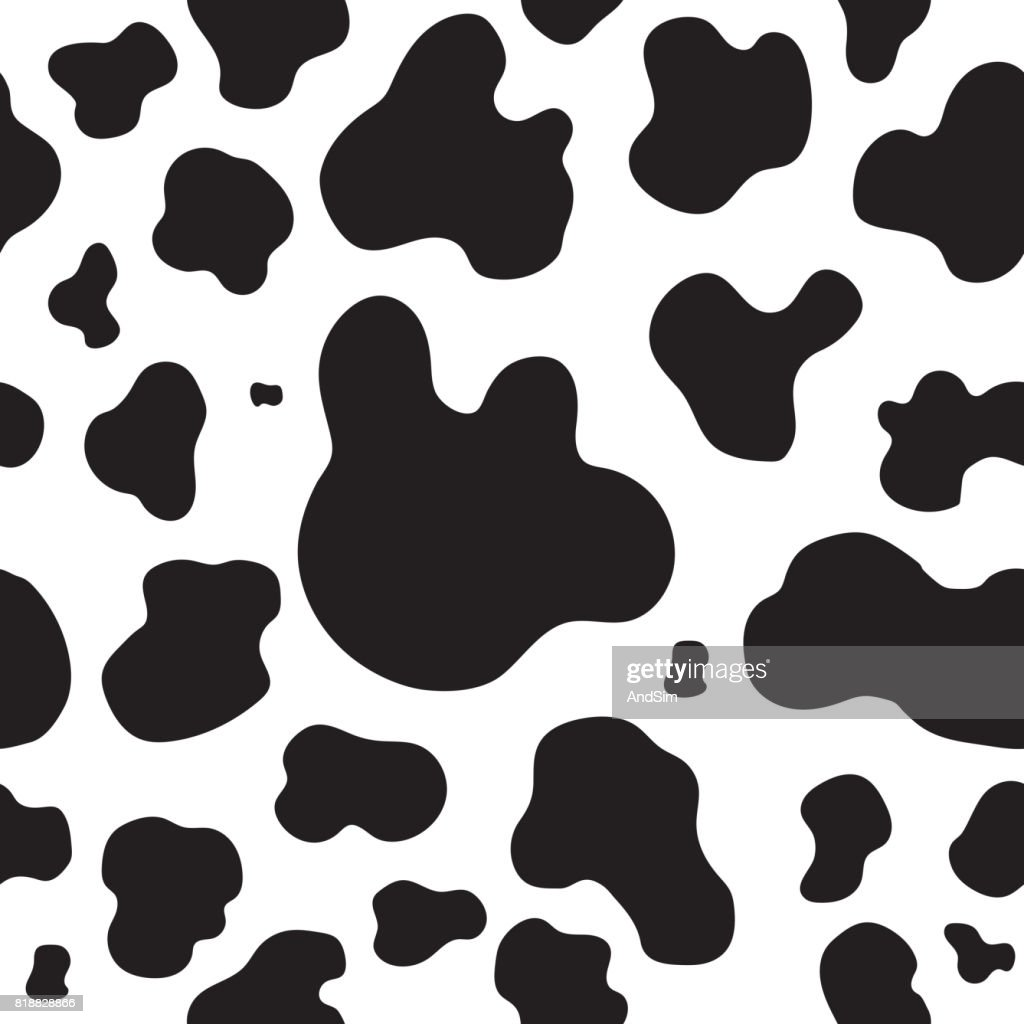 Spots Cow skin seamless pattern. Vector illustration.