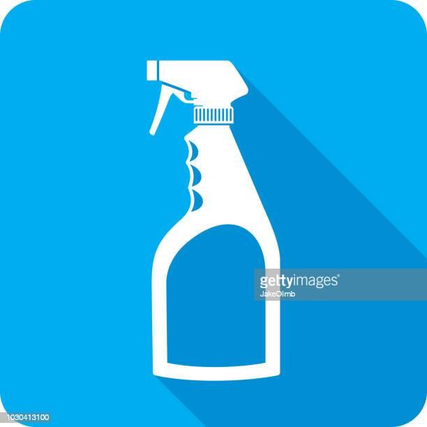 spray bottle icon silhouette - spray bottle stock illustrations