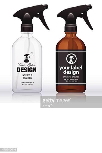 spray bottles - spray bottle stock illustrations