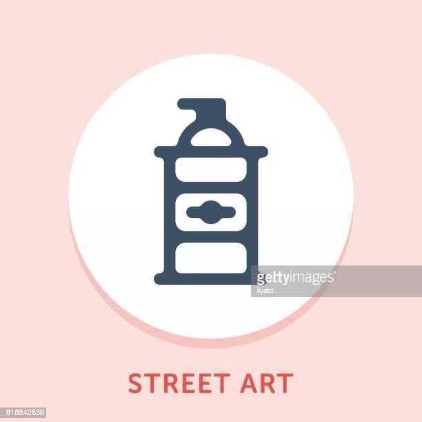 spray-kurve-symbol - streetart stock-grafiken, -clipart, -cartoons und -symbole