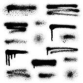 Spray paint elements