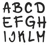 Spray Paint Graffiti Vector Font Letters A-M