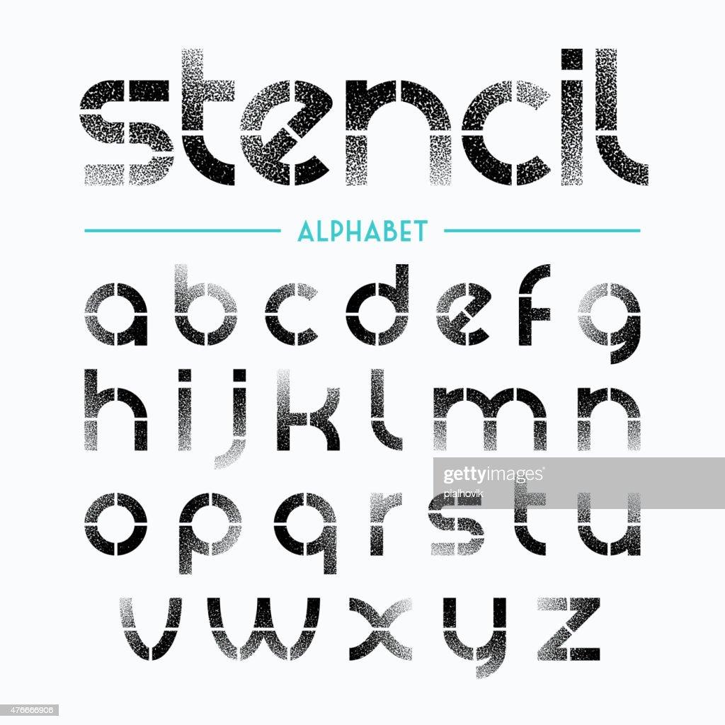 Stencil Alphabet letters free vector clip arts, free clip