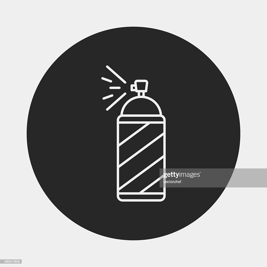 Spray painting line icon : Vector Art