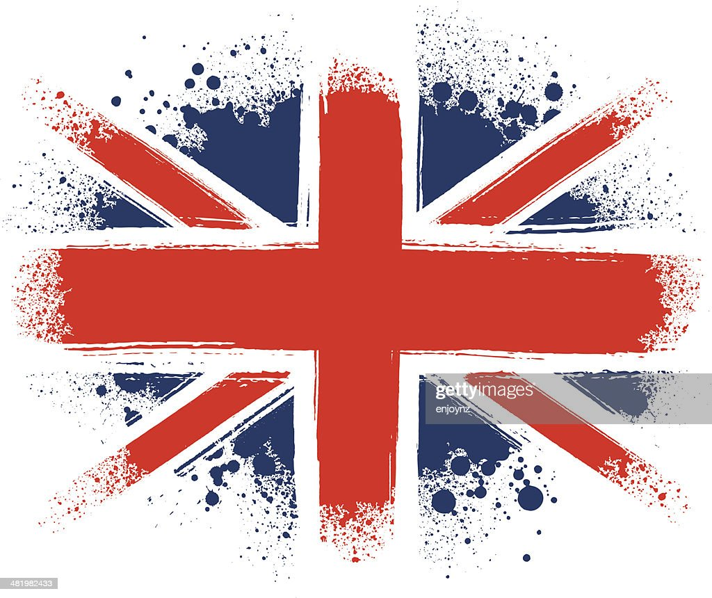 Spraypainted Union Jack : stock illustration