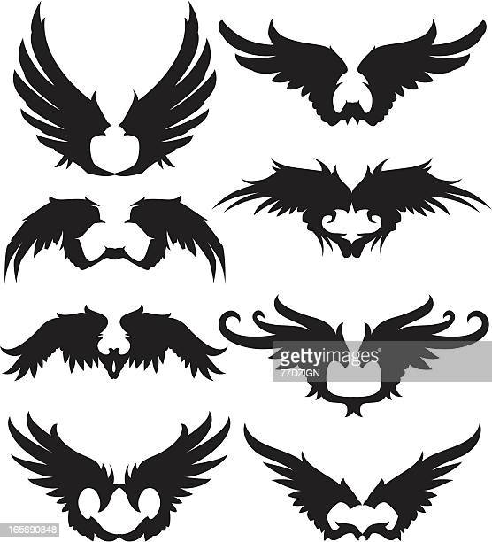spread black wings