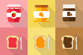spreads with toast flat design