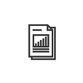 spreadsheet document paper outline icon. isolated note paper icon in thin line style for graphic and web design. Simple flat symbol Pixel Perfect vector Illustration.