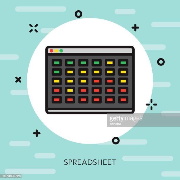 spreadsheet thin line interface icon - spreadsheet stock illustrations
