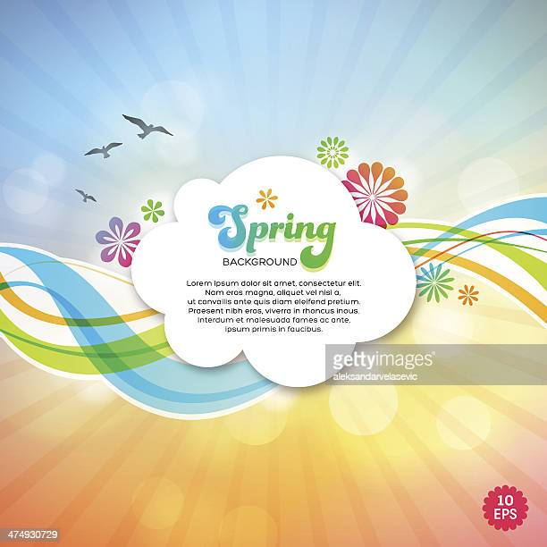 spring background - signal flare stock illustrations, clip art, cartoons, & icons