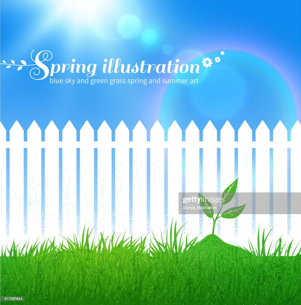 Spring background with growing sprout