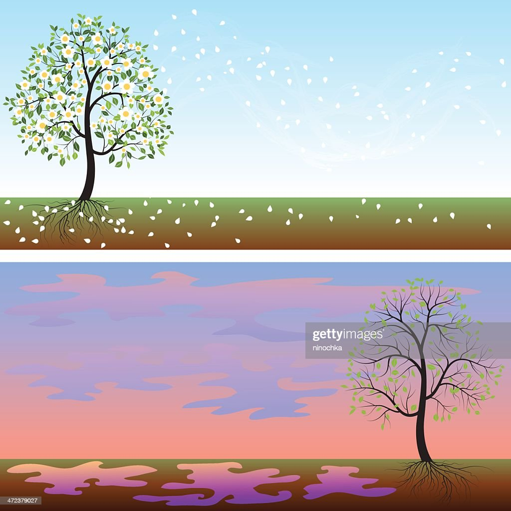Spring Backgrounds Vector Art