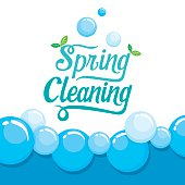 Spring Cleaning Letter Decorating And Foam Background