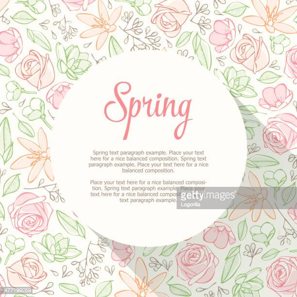 spring design - plant attribute stock illustrations, clip art, cartoons, & icons