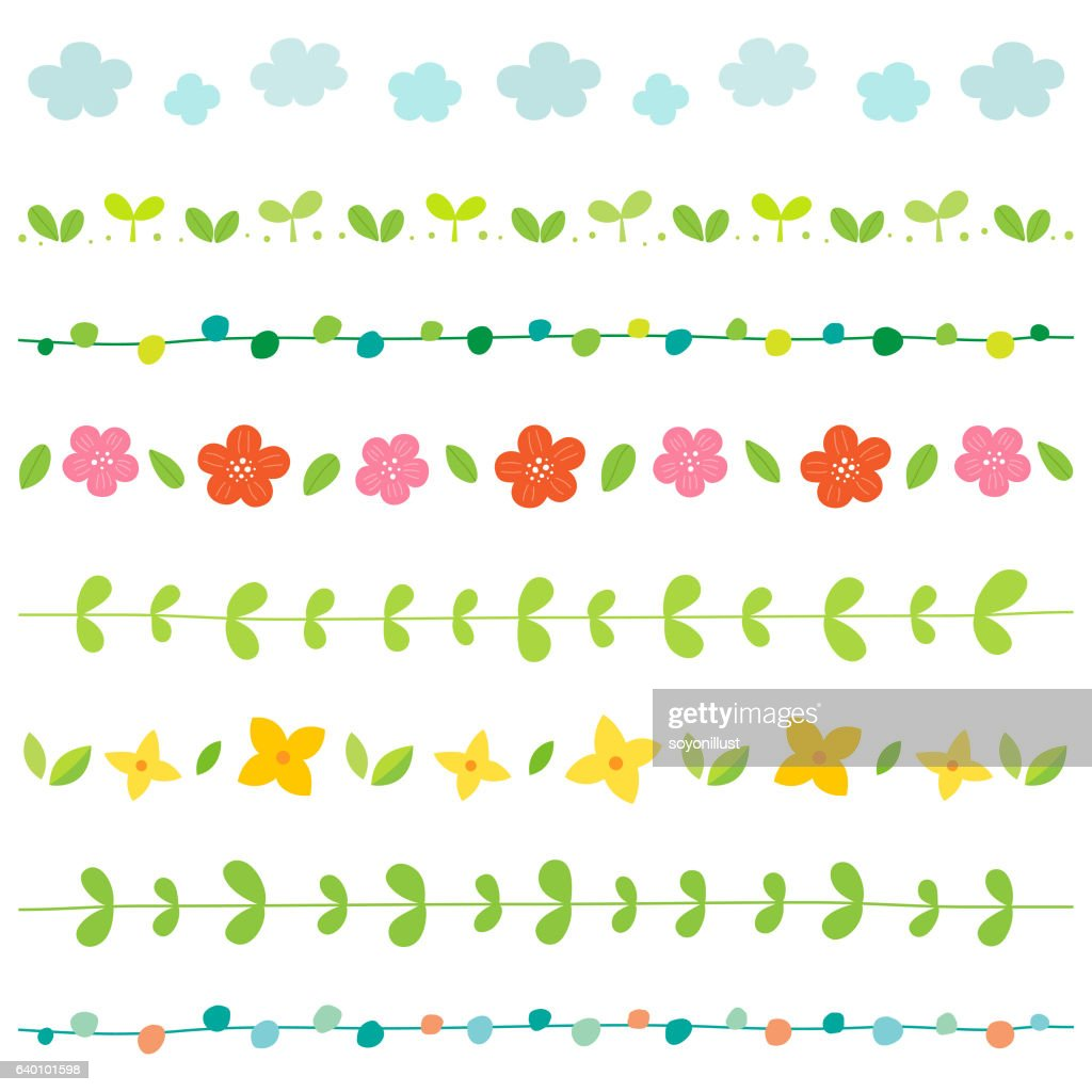 Spring elements border set