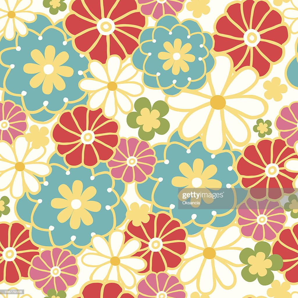 Spring Field Oriental Kimono Seamless Pattern High Res Vector Graphic Getty Images