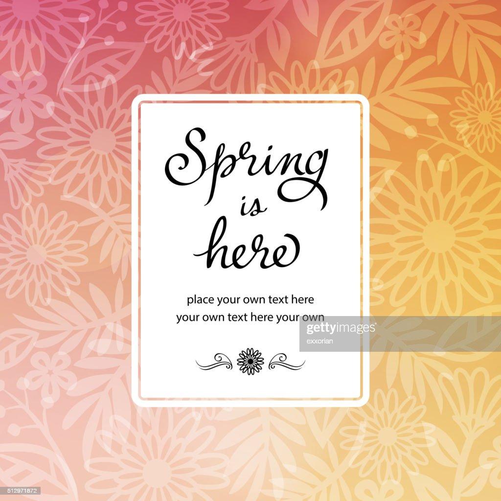 Spring floral background invitation vector art getty images spring floral background invitation vector art stopboris Choice Image