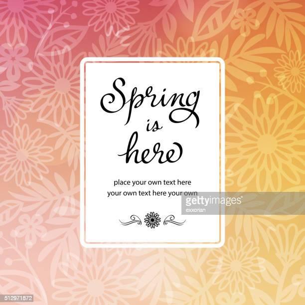 Frühling Blumen Hintergrund-Einladung