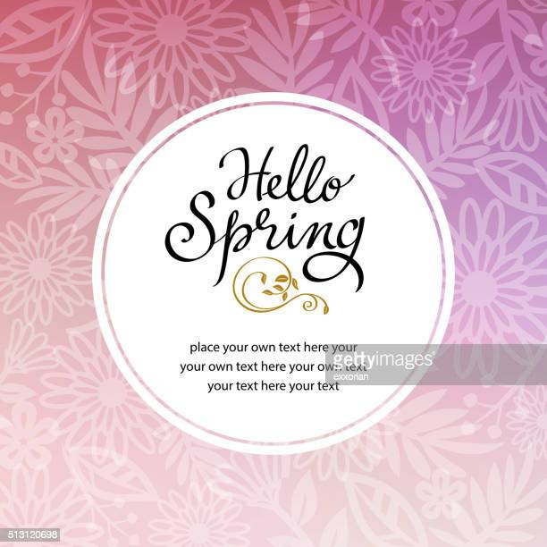 Spring Floral Background Invitation