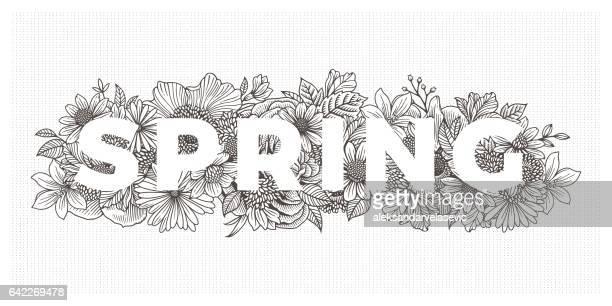 Våren blommor gränsen