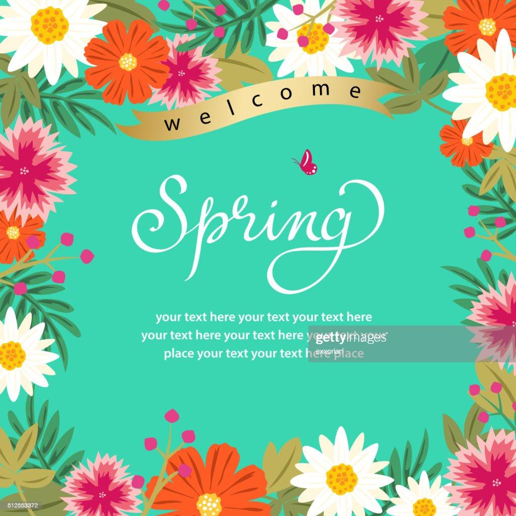 Spring Floral Frame : stock illustration