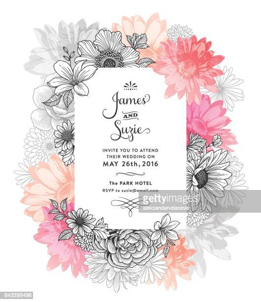 spring floral frame - floral pattern stock illustrations