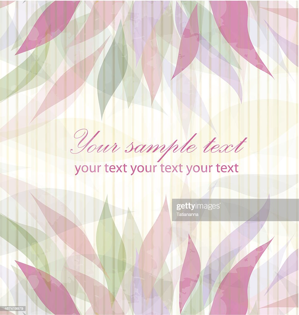 Spring floral pink background vector