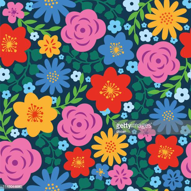 spring floral seamless pattern. - flower stock illustrations