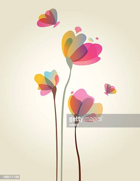 spring flower artwork - single flower stock illustrations