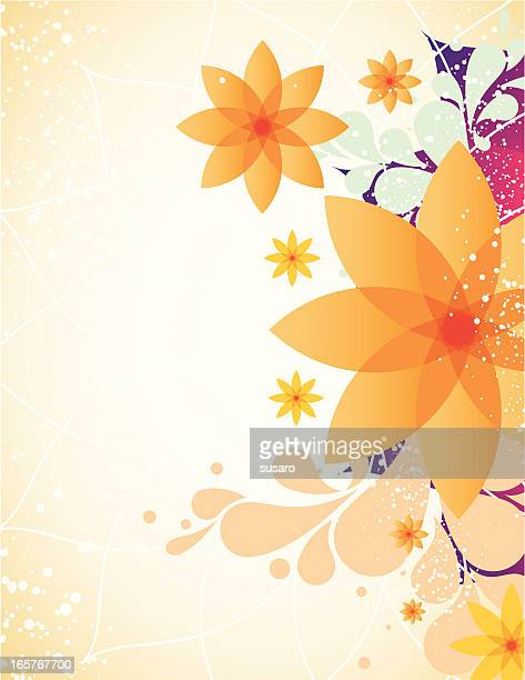 spring flower background - girly wallpapers stock illustrations