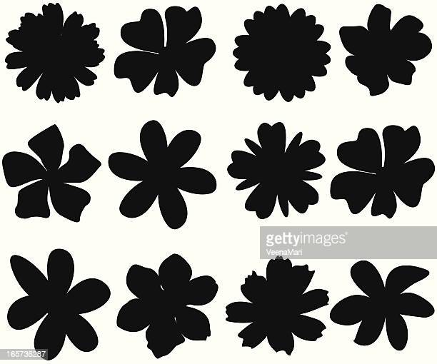spring flower silhouette - daisy stock illustrations, clip art, cartoons, & icons