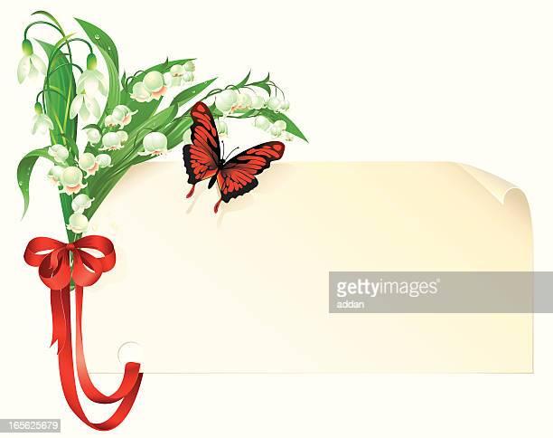 illustrations, cliparts, dessins animés et icônes de fleurs de printemps - brin muguet