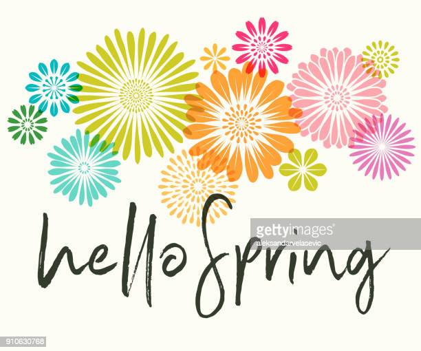spring flowers - flowers stock illustrations, clip art, cartoons, & icons