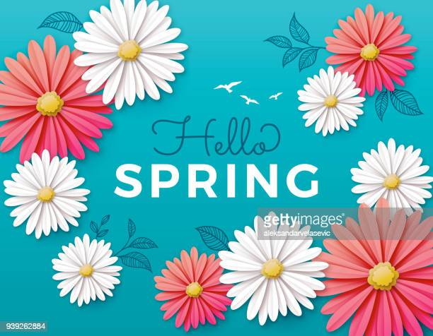 spring flowers - springtime stock illustrations