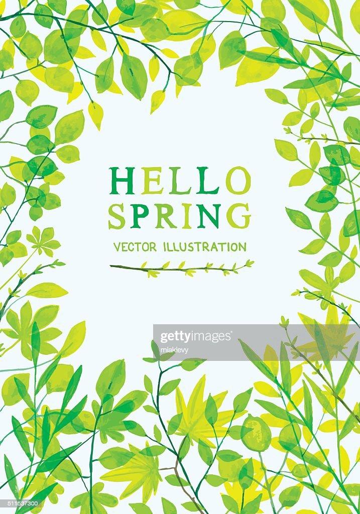 Spring foliage frame