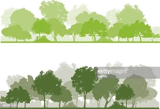 60点の森林のイラスト素材クリップアート素材マンガ素材アイコン