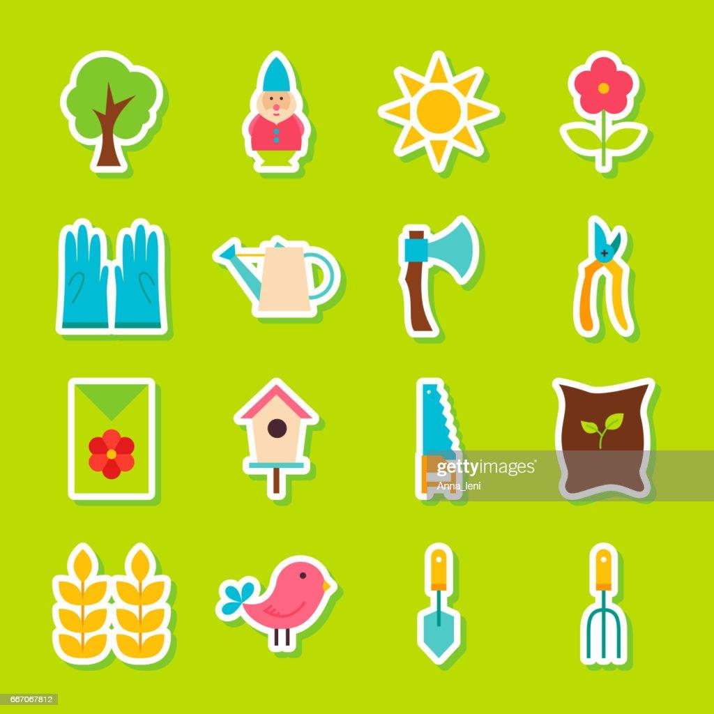 Spring Garden Stickers