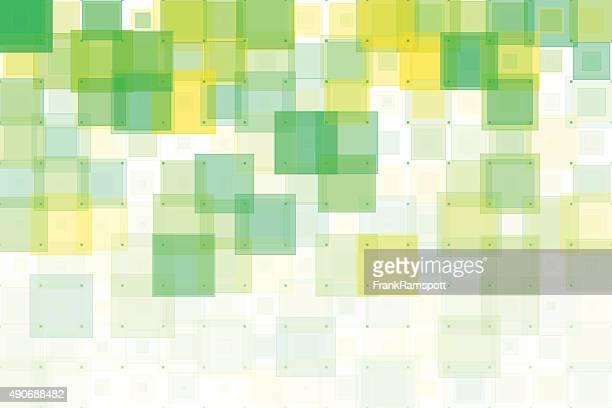 Frühling geometrische Muster mit Quadraten