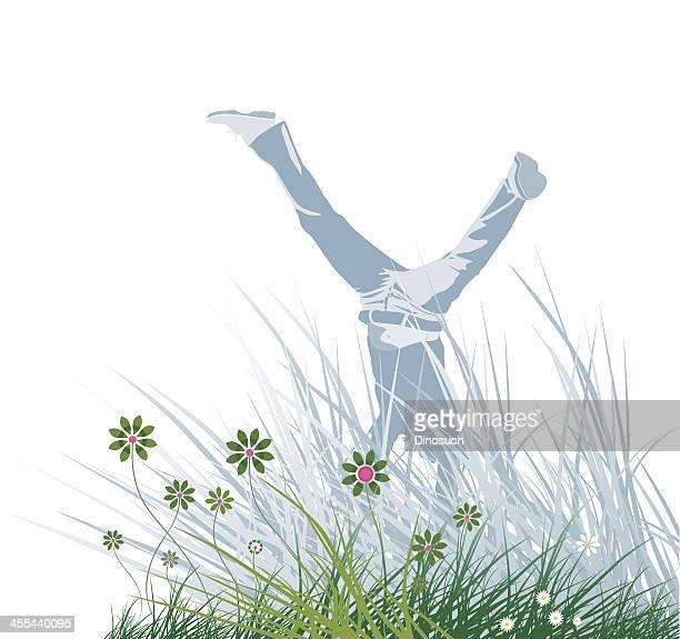 Spring Grass Handstand