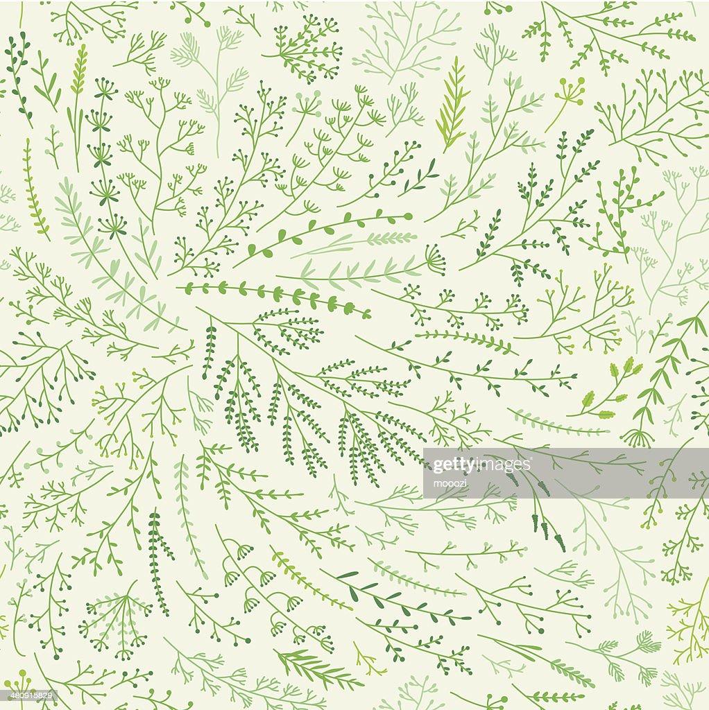 Spring grass pattern