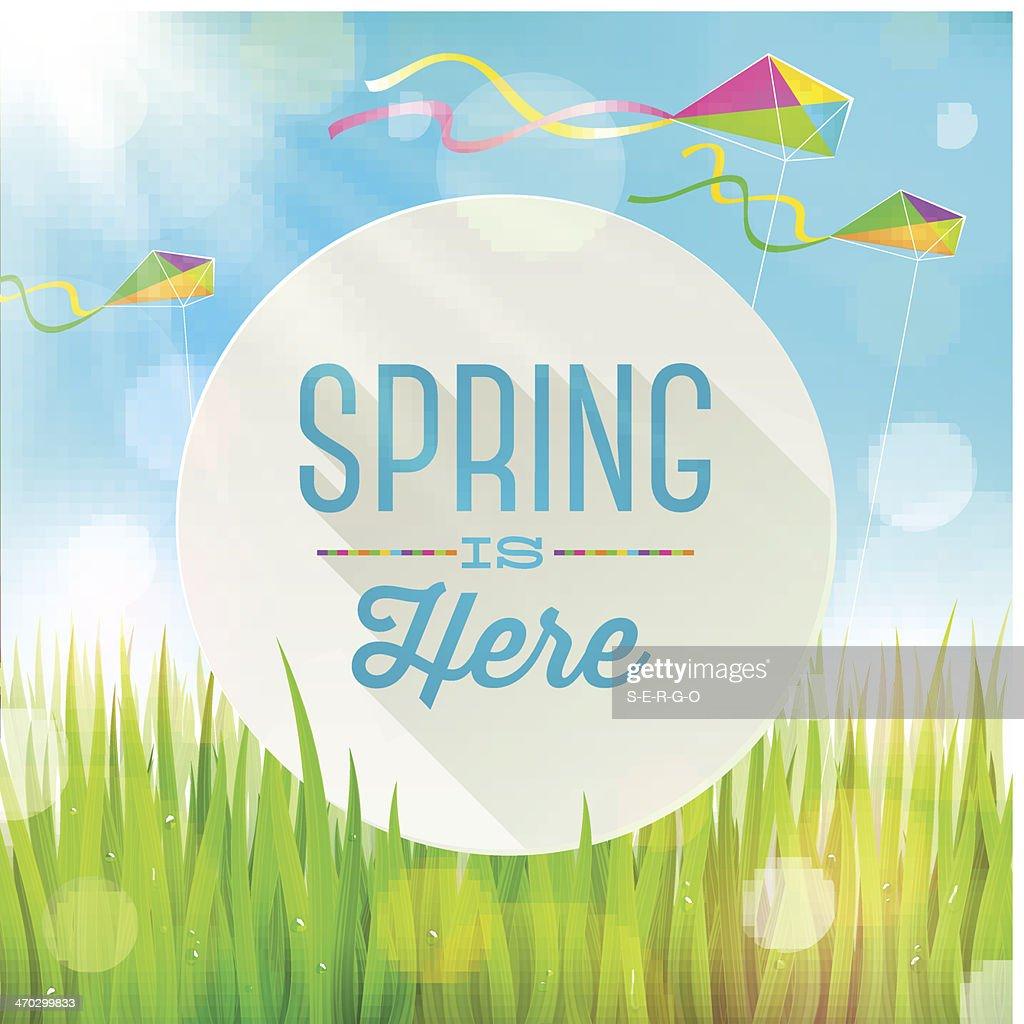 Spring greeting illustration