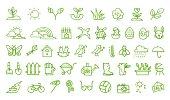 Spring hand drawn icons set