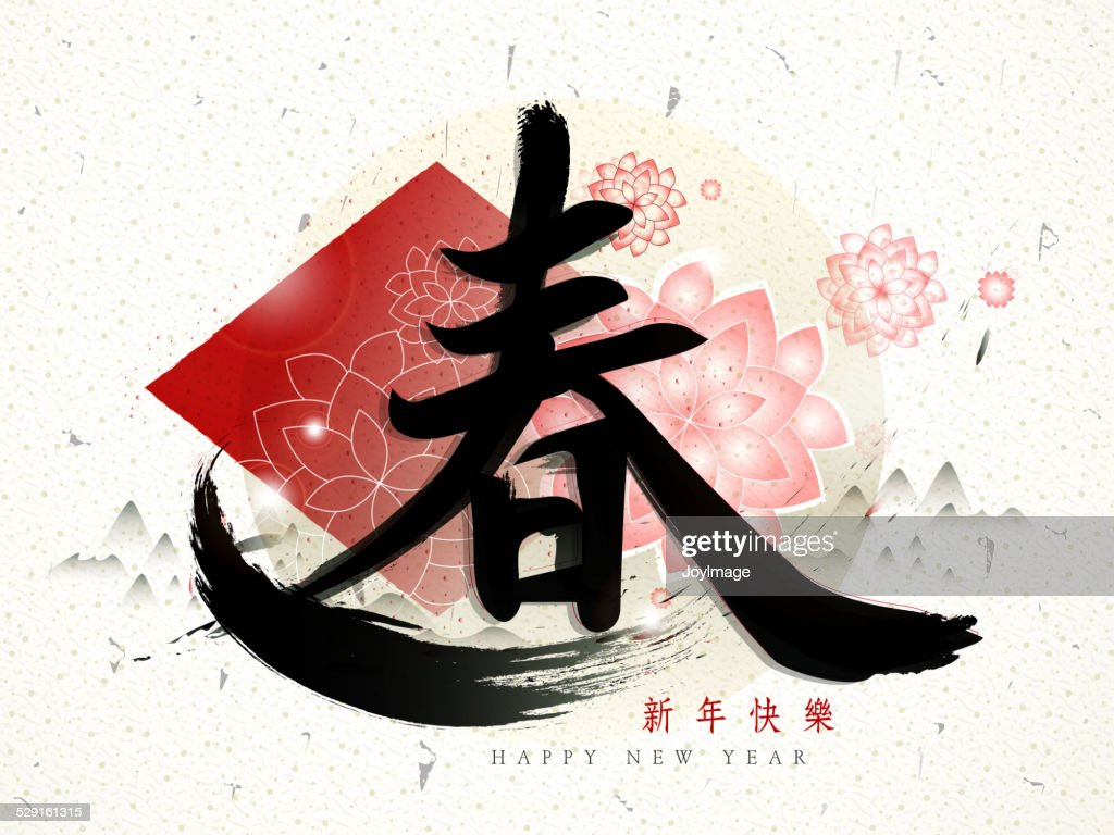 Spring in traditional Chinese words