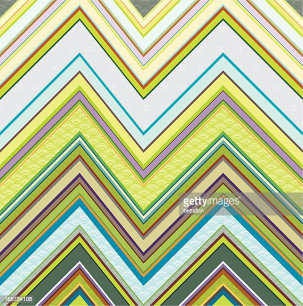 spring in zigzag pattern - scottish tweed stock illustrations, clip art, cartoons, & icons