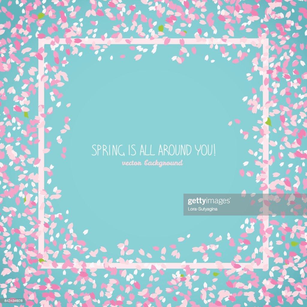 Spring is all around you. Japanese sakura postcard