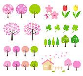 Spring landscape illustration