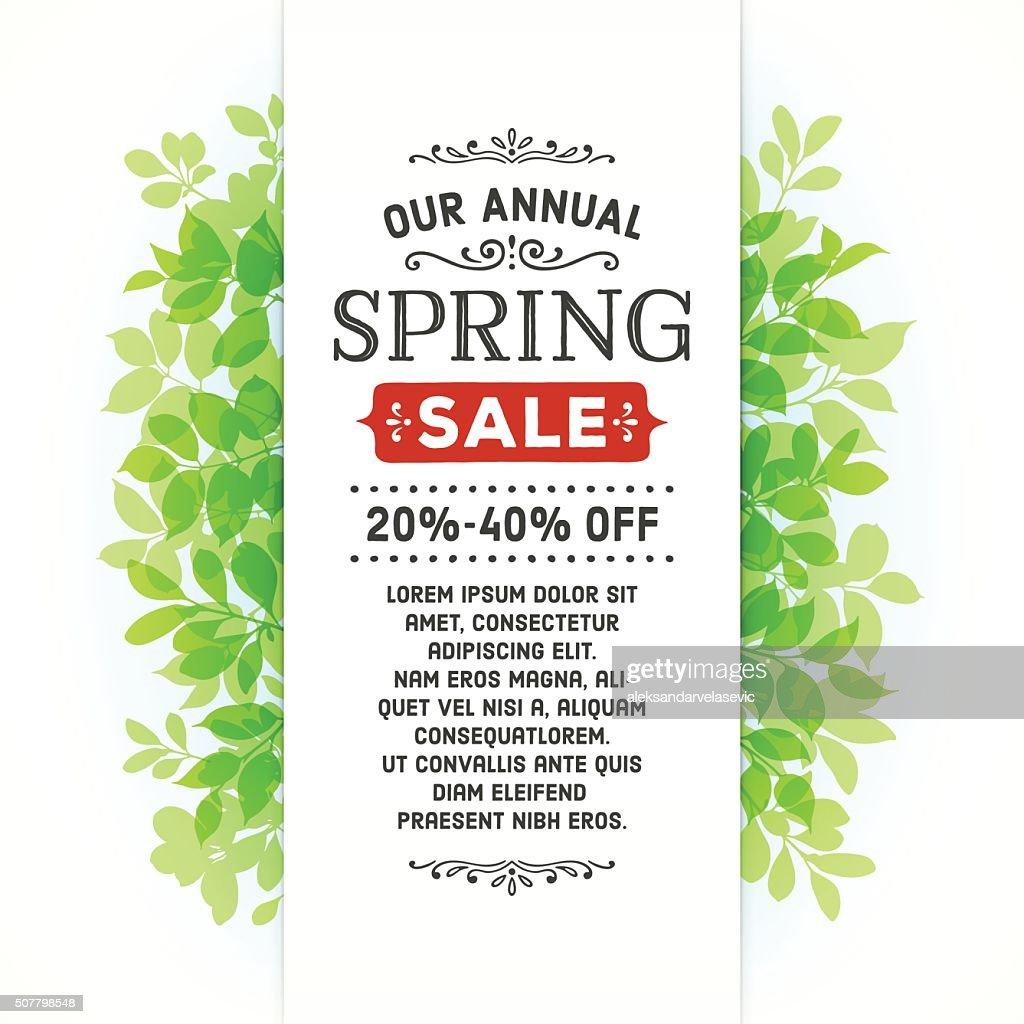 Spring Leaves Banner