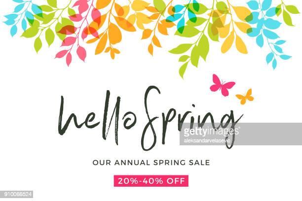 spring leaves - spring stock illustrations