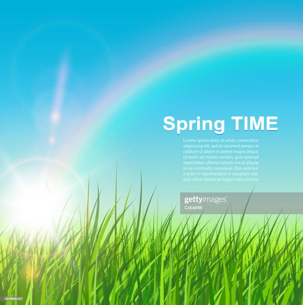 Spring natural background