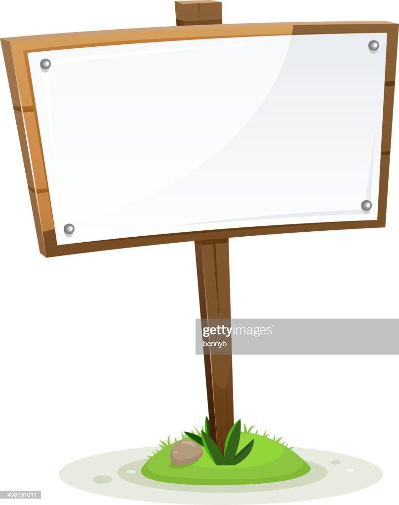 Spring Or Summer Rural Wood Sign